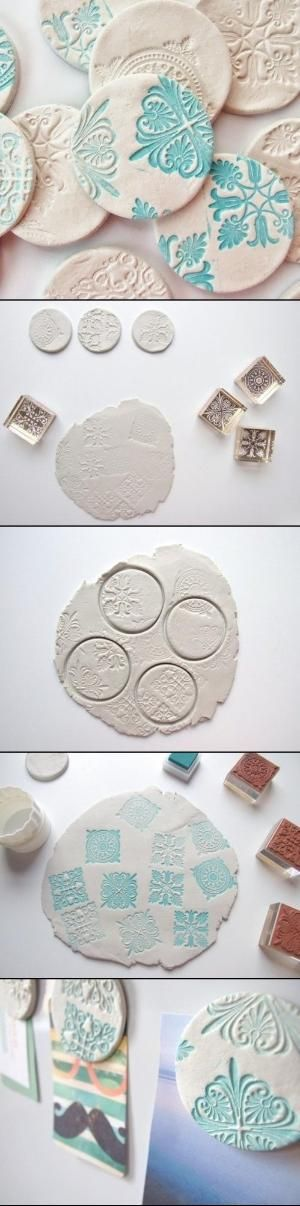 DIY Clay Magnets by Maria del Socorro pinzon