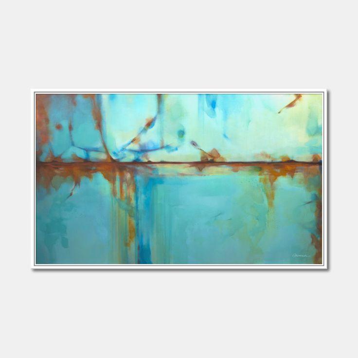 Printable painting Acrylique orange blue green red par Artoosh
