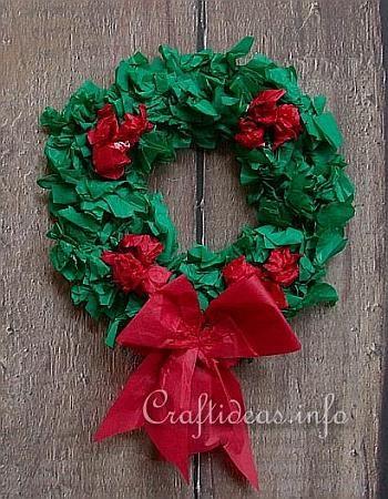 Kerst Craft - Paper Krans / Kinderen zullen niet alleen veel plezier het maken van deze krans, maar zal ook trots op deze decoratie Kerst hangen in het huis of in het venster zijn. Dit project vereist een minimale van materialen en is afgewerkt in ongeveer 30 minuten.