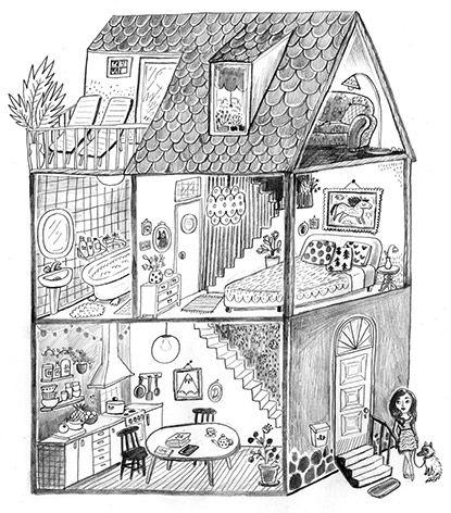 Bruna Vieira illustration by Emmi Jormalainen. Client: Capricho