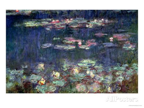 Waterlilies: Green Reflections, 1914-18 (Right Section) Giclee Print by Claude Monet at AllPosters.com