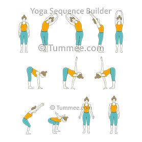 bear pose arms out yoga sequence yoga  yoga sequences