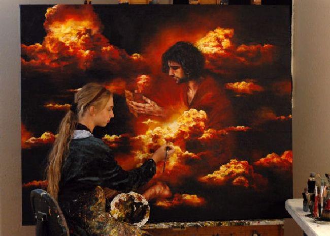 Child Prodigy paints heaven
