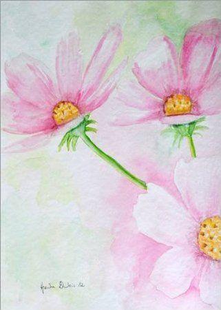 Forex-Platte 50 x 70 cm: zart Aquarell von Dubis Heike RaumKunst