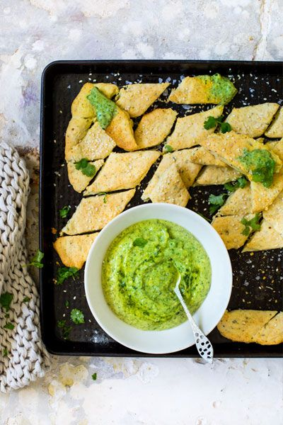 These Savoury Biscuits are flavoured with lemon, garlic and rosemary and served with a delicious Avo &Herb Dip. All made with avocado oil!