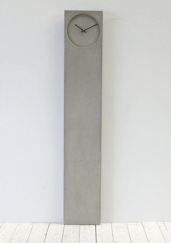 decorative item: concrete clocks – grey design and minimal forms | decoration . Dekoration . décoration | Design: johan forsberg |