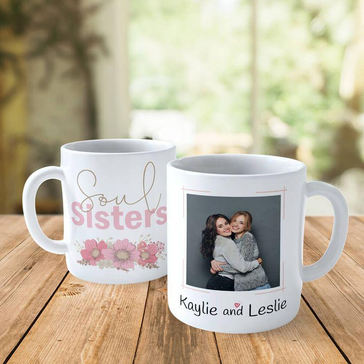 Soul sister gift for sister custom photo mug gift