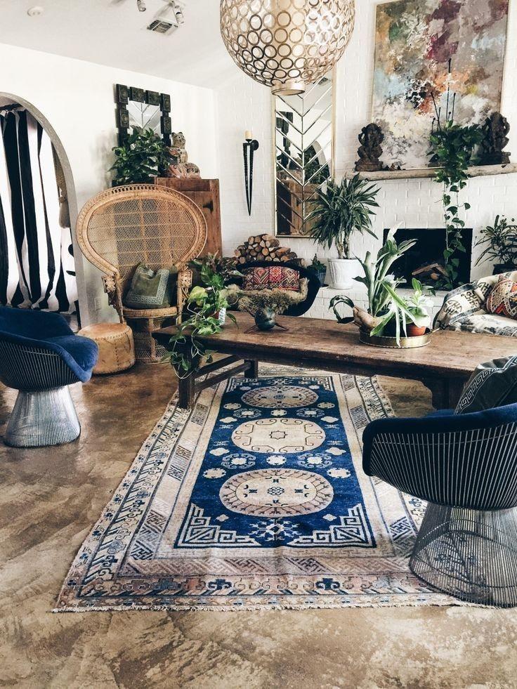 Pin By Hamad Alhumaidhi On Boho Decor Bohemian Living Room Decor Boho Living Room Boho Chic Living Room