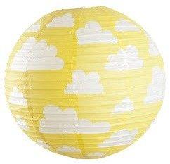 Papieren bollamp Wolken - Geel | Verlichting | Gras onder je voeten | Yellow | paper latern | Farg and Form