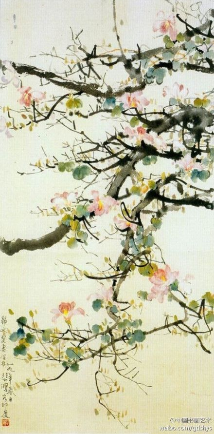 "[Xu Beihong ""Bauhinia""] Xu Beihong painting attainments in very deep, is the art of painting innovation practitioners, in the tradition of painting based on the European classical realist painting techniques into creation, created a rich sense of new painting."
