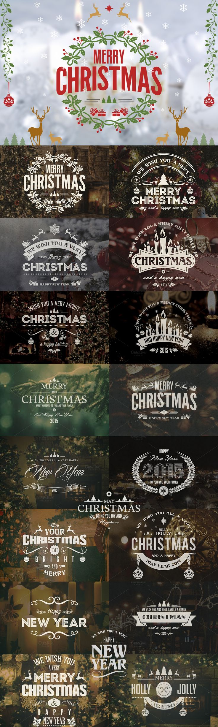 Christmas / New Year Badges & Labels Template #design Download: https://creativemarket.com/Marvels/103859-Christmas-New-Year-Badges-Labels?u=ksioks