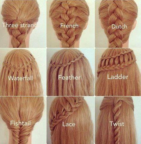 Surprising 1000 Ideas About Different Braids On Pinterest Different Braid Hairstyles For Women Draintrainus