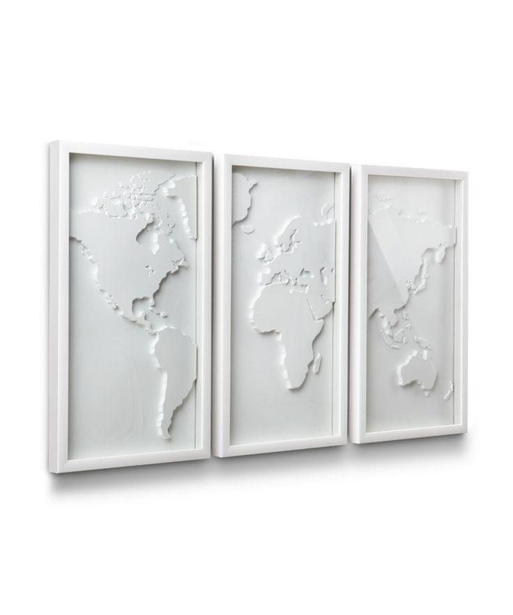 White World Map | dotandbo.com