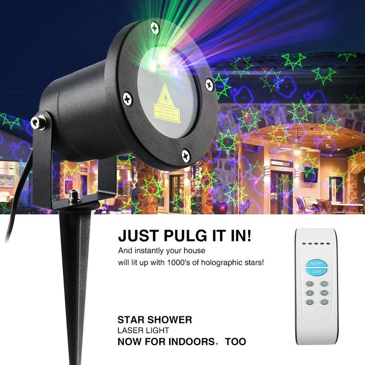 Kaotoer Laser Garden Light, Moving Patterns Star Projection Laser Spotlights and Laser Christmas Light, IP65 Waterproof Garden Landscape Light with IR Wireless Remote (RGB-12 Patterns)