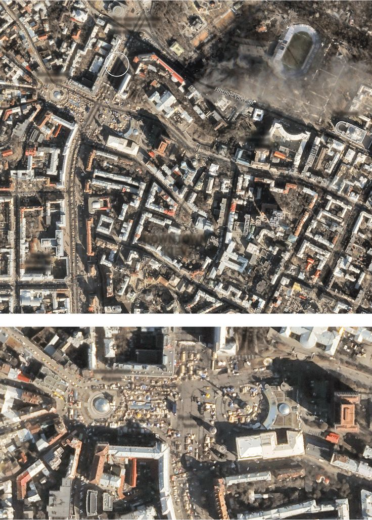 Satellite Images of the Protests in Kiev - NYTimes.com