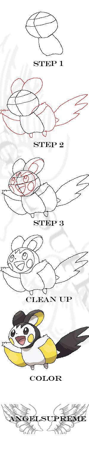 How To Draw: Emolga by ~Angelsupreme on deviantART