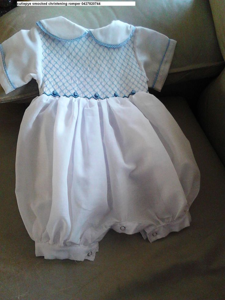 boys 12m smocked romper, new addition to the collection