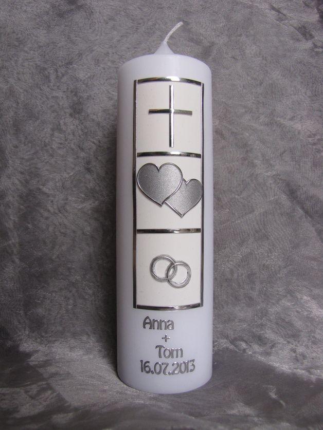 Hochzeitskerzen & Beleuchtung - Hochzeitskerze - ein Designerstück von meinekerze bei DaWanda