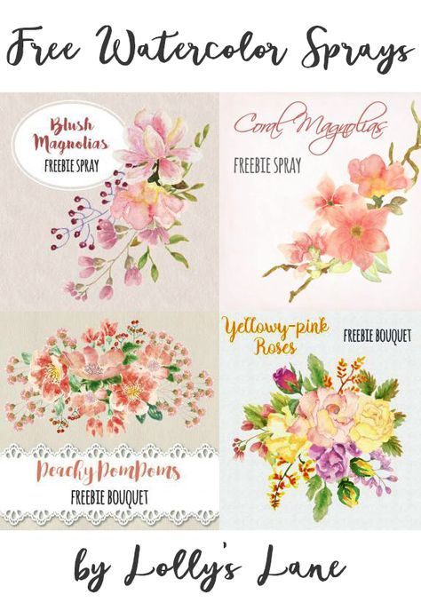 FREEBIES | Free watercolor flowers, Floral wedding ...