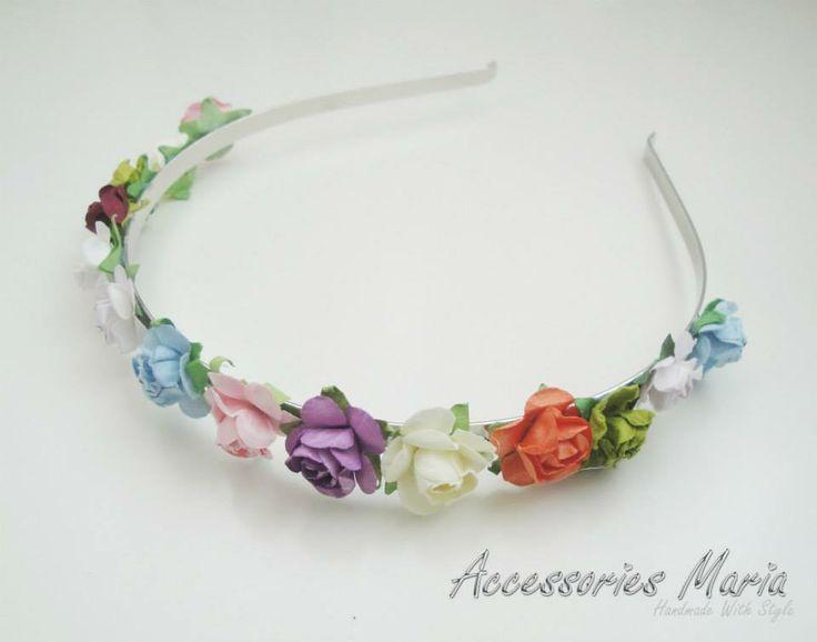 Cercei cu floricele (15 LEI la AccessoriesMaria.breslo.ro)  #headband #flowers #roses #handmade #AccessoriesMaria