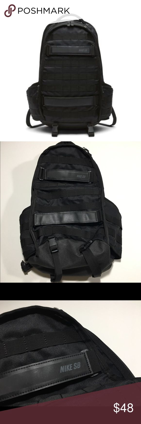 Nike SB RPM Skateboarding Backpack Black Literally got this bag maybe a few weeks ago and used it 2-3 times, still in like new condition. Only selling it because I found a better bag in all black so I don't need both. Retail is 90 online. Nike Bags Backpacks