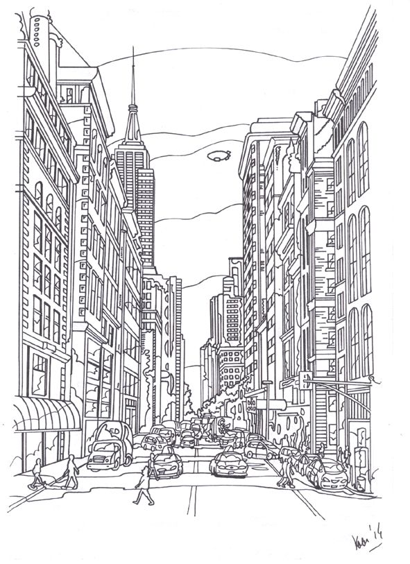 Pentekening, New York