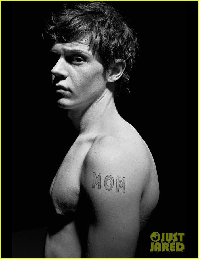 Evan Peters: Shirtless for 'Flaunt' Feature!