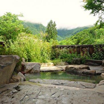 Onsen bade i Japan