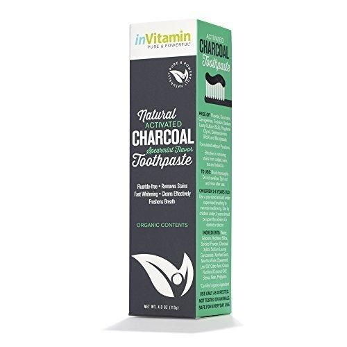 Natural Whitening Activated Charcoal Toothpaste (Spearmint)