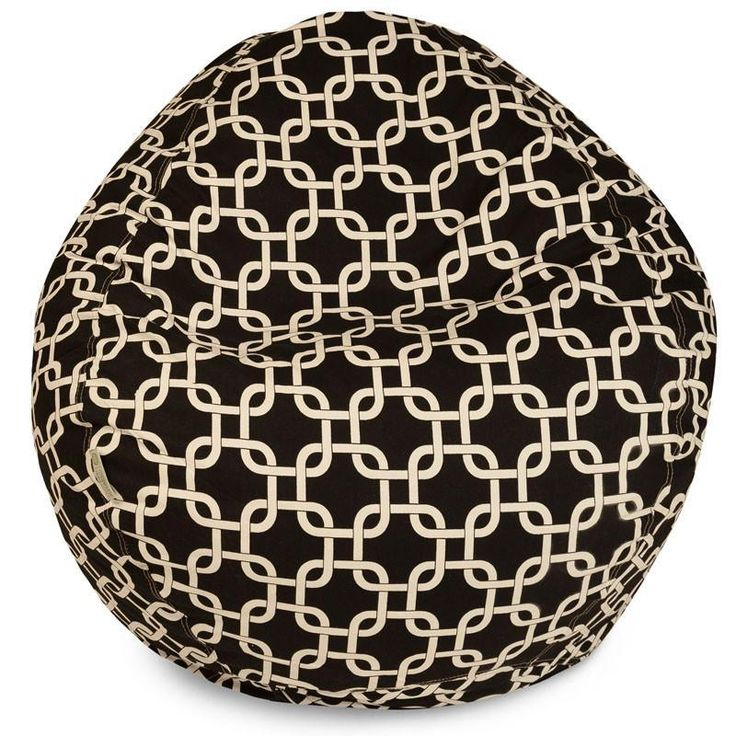 Majestic Home Goods 85907224033 Black Links Small Classic Bean Bag