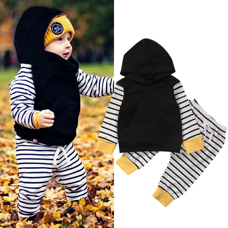 >> Click to Buy << Newborn Toddler Baby Boys Girls Infant Clothes Set Tops Hoodie Tops Striped Long Sleeve Pants Outfits Clothing #Affiliate