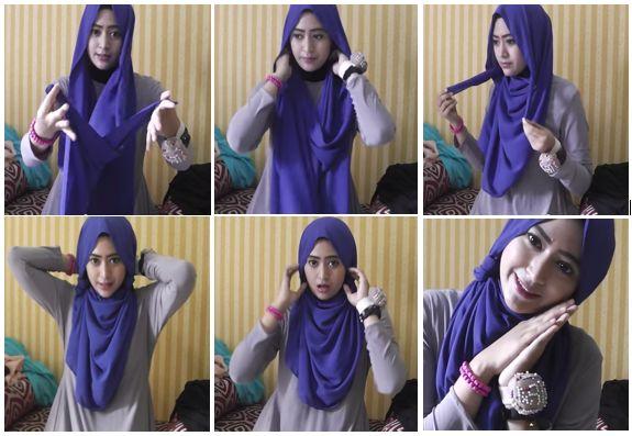 1. Tutorial Hijab Modern 2014
