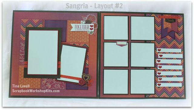 Scrapbooking Kits: #CTMHSangria 6 Page Scrapbook Kit
