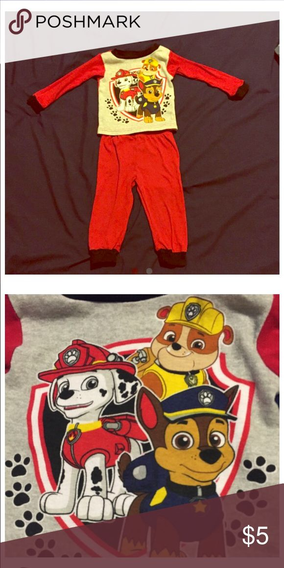 Paw patrol pajama set Size 2T but fits like 18months. Marshall and ...