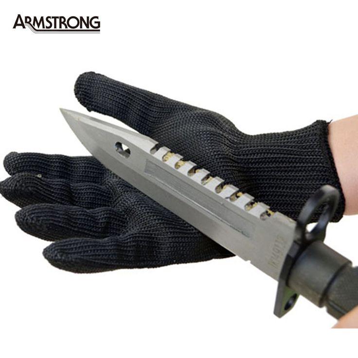 1 Par Luvas de Protecção À Prova de Corte Luvas de Segurança Fio De Aço Inoxidável Metal Mesh Butcher luvas Anti-corte Luvas de Trabalho Respirável