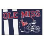 Ncaa University of Mississippi Ole Miss Navy (Blue) 1 ft. 7 in. x 2 ft. 6 in. Accent Rug