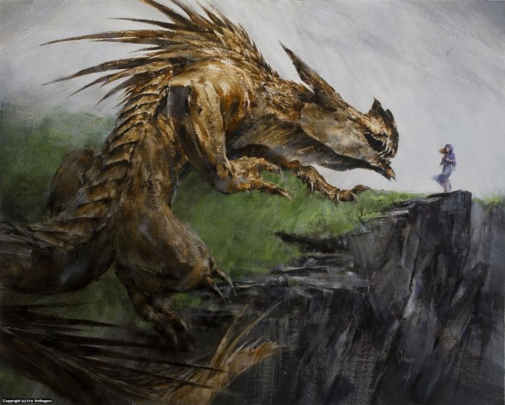 Glaurung and Nienor Artwork by Eric Velhagen