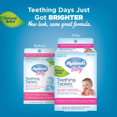 Look what's new! We updated our Teething Tablets packaging so you can find us easier at stores. Share this photo, spread the word, teething days just got brighter for your baby (and you too)