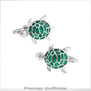Jade Turtle Cufflinks