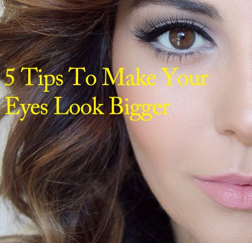 our eye makeup can tell a lot about your face for example it can make you look awake or dull. To enhance your eye makeup, the first trick is to avoid dark and harsh colours. Here are 5 tips to make your eyes look bigger: