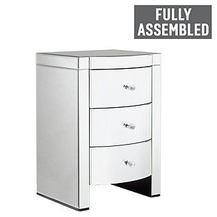 Buy Heart of House Canzano 3 Drawer Mirrored Bedside Chest at Argos.co.uk, visit Argos.co.uk to shop online for Bedside cabinets