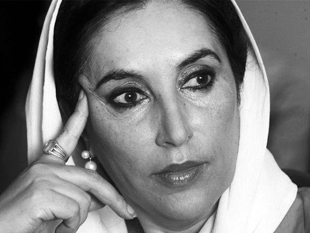 """Benazir Bhutto  """"The government I led gave ordinary people peace, security, dignity and opportunity to progress.""""  The first woman elected to lead a Muslim state and twice elected Prime Minister of Pakistan. Bhutto fought for freedom, democracy and equality until her assassination in 2007."""