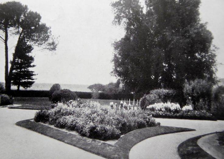 Front garden of Foxlow homestead. Foxlow, Bungendore, New South Wales. The Property of Franc B. S. Falkiner, Esq. Approximately 15,000 acres. Photo circa 1920. Uploaded courtesy of thecollectorsbag.com