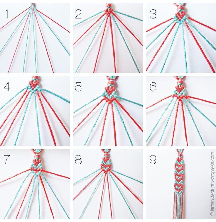 spread the love: heart pattern friendship bracelets « la manufacture