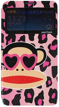 For Samsung Paul Frank Animal Window Pink