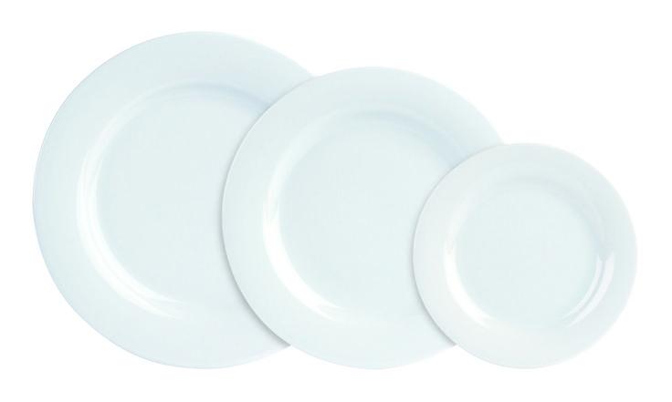 White banquet plates - Porcelite