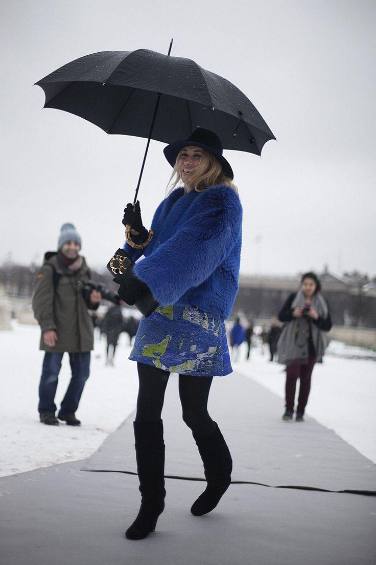 Street style en la alta costura de Paris primavera verano 2013: Alexandra Golovanoff