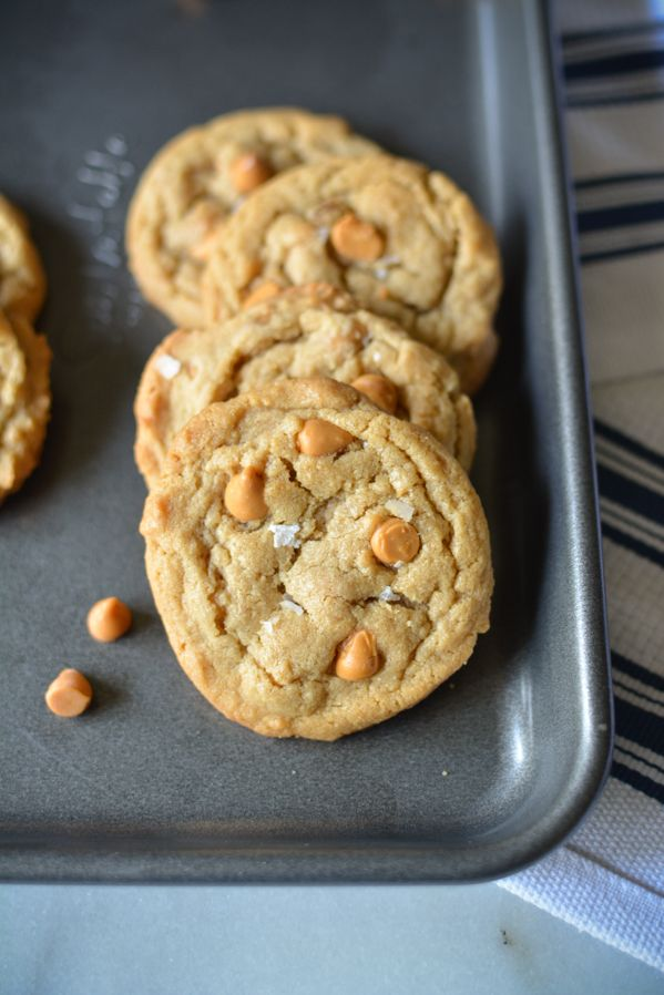 Salted Butterscotch Peanut Butter Cookies  http://www.sprinkledwithjules.com/home/2018/1/11/salted-butterscotch-peanut-butter-cookies