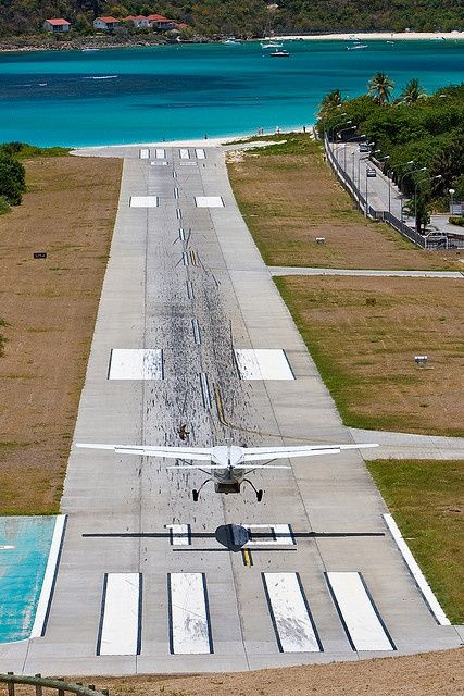 St Barts- the scariest landing we've ever done, but well worth it to get to paradise!