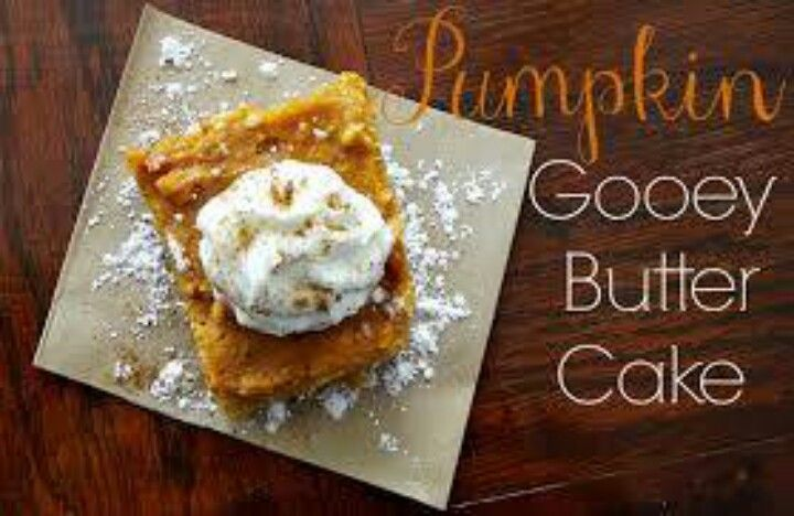 Pumpkin gooey butter cake | Sweets and Treats | Pinterest